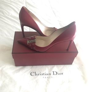 Dior red shoes size 10